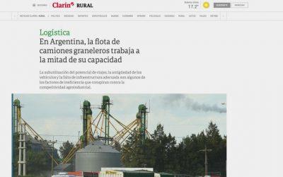 En Argentina, la flota de camiones graneleros trabaja a la mitad de su capacidad